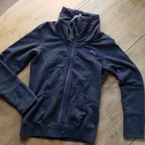 Puma sweatshirt zip up sz S